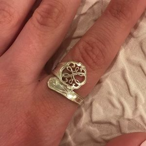 """Alex & Ani Silver """"Path of Life"""" Spoon Ring"""